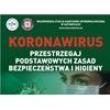 Koronawirus. Przestrzegaj zasad bezpieczeństwa i higieny